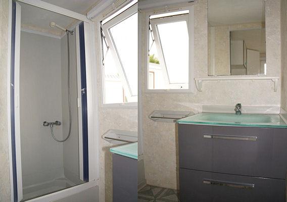 Relooking am nagements int rieur mobil home renov for Store de salle de bain